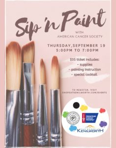 Sip N Paint With The American Cancer Society The Shops At